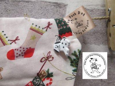 the posh dog clothing company Christmas bandannas big stockings trees red 2