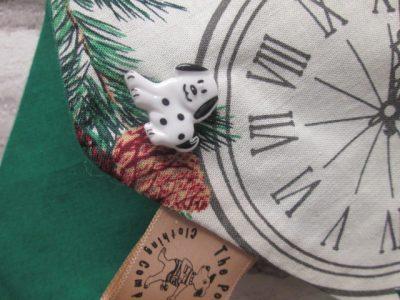 the posh dog clothing company Christmas bandannas small London green a4