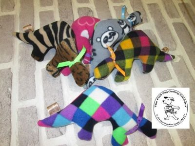 the posh dog clothing company fleece toy lovies dino