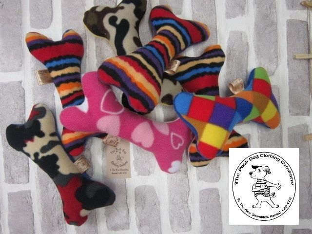 the posh dog clothing company small bone shape toy