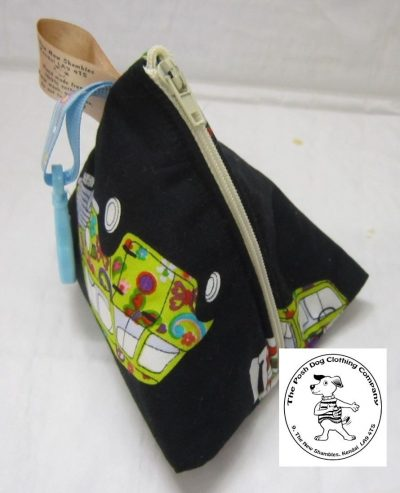 the posh dog clothing company the walkies range triangle pouch cars
