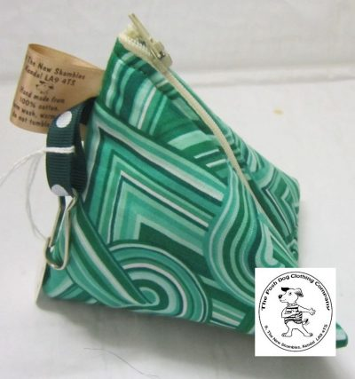 the posh dog clothing company the walkies range triangle pouch green