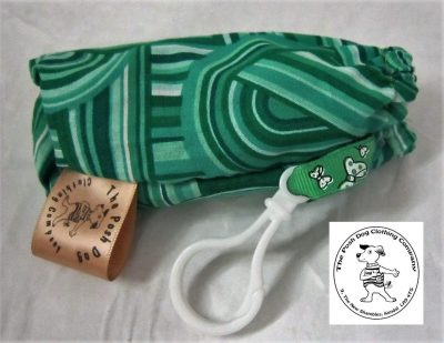 the posh dog clothing company walkeis collection poo bag holder geo green