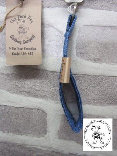 the posh dog clothing company walkies collection key fob geo blue 2