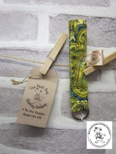 the posh dog clothing company walkies collection key fob paisley 1