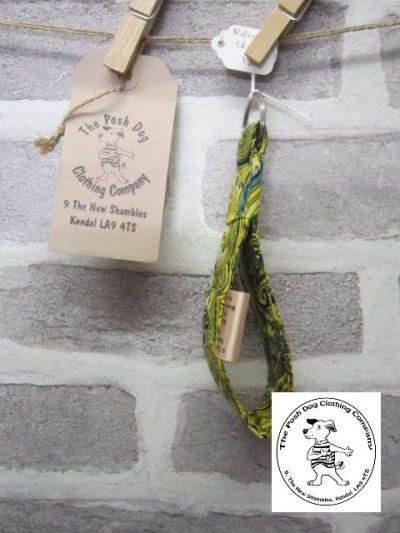 the posh dog clothing company walkies collection key fob paisley 2