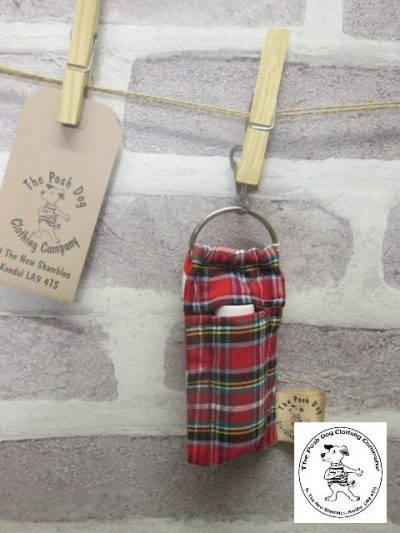 the posh dog clothing company walkies collection lip salve tartan