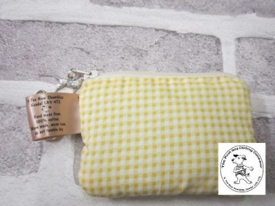 the posh dog clothing company walkies collection mini purse yellow gingham 1