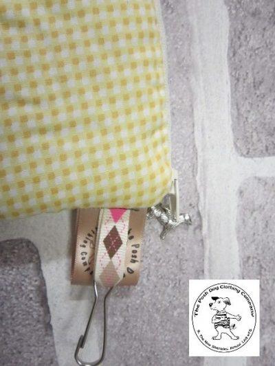 the posh dog clothing company walkies collection mini purse yellow gingham 2