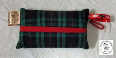 the posh dog clothing company walkies collection tissue pocket dark tartan