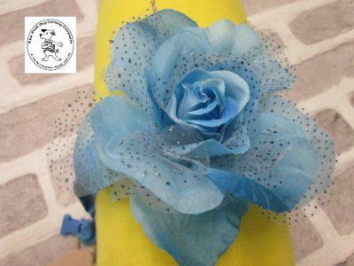 The Posh dog clothing company corsage blue rose 01