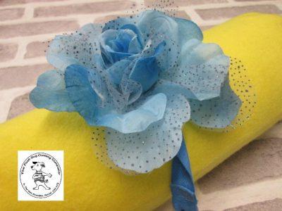 The Posh dog clothing company corsage blue rose 02