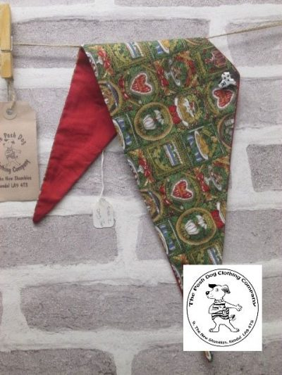 the posh dog clothing company Christmas bandannas med traditional red 1