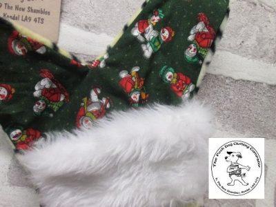 the posh dog clothing company a collars for Christmas Christmas stocking tiger green 2