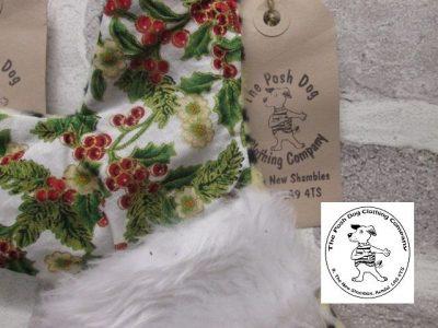 the posh dog clothing company a collars for Christmas Christmas stocking tiger holly 2