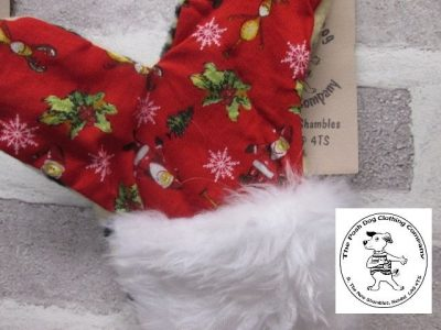 the posh dog clothing company a collars for Christmas Christmas stocking tiger red 2