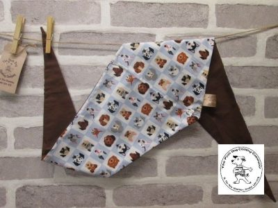 the posh dog clothing company bandanna blue dogs brown 4 02