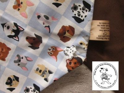 the posh dog clothing company bandanna blue dogs brown 4 03