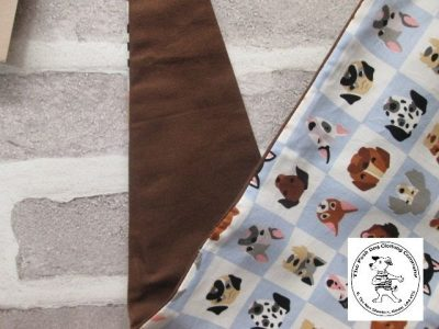 the posh dog clothing company bandanna blue dogs brown 4 04