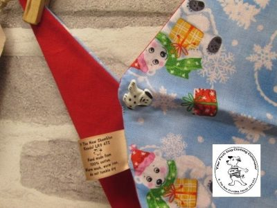 the posh dog clothing company bandanna blue polar bears red 3 02