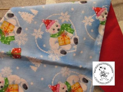 the posh dog clothing company bandanna blue polar bears red 3 03