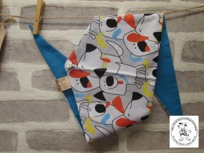 the posh dog clothing company bandanna cartoon dogs blue 3 01