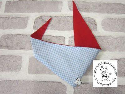 the posh dog clothing company bandanna gingham blue 1