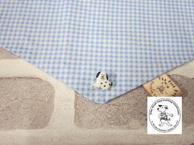 the posh dog clothing company bandanna gingham blue 13