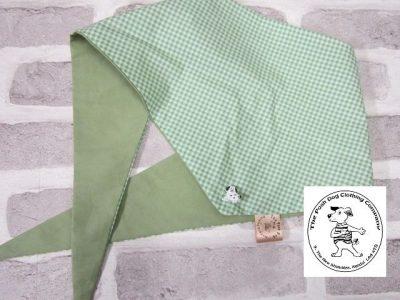 the posh dog clothing company bandanna gingham green 11