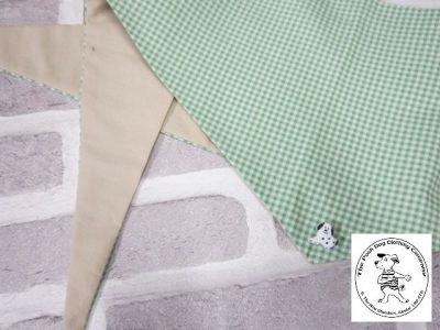 the posh dog clothing company bandanna gingham green 13