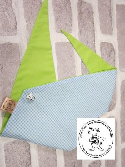 the posh dog clothing company bandanna gingham green 14
