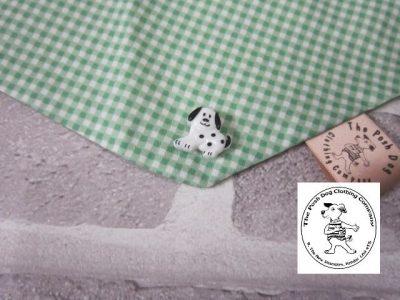 the posh dog clothing company bandanna gingham green 4