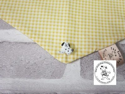 the posh dog clothing company bandanna gingham yellow 10