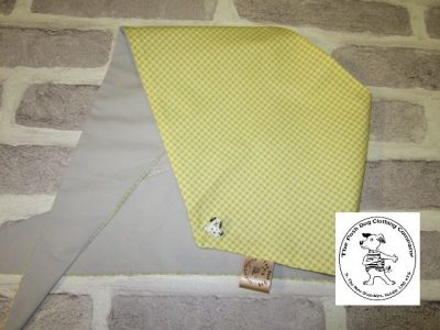 the posh dog clothing company bandanna gingham yellow 11
