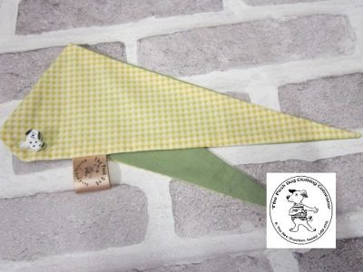 the posh dog clothing company bandanna gingham yellow 4
