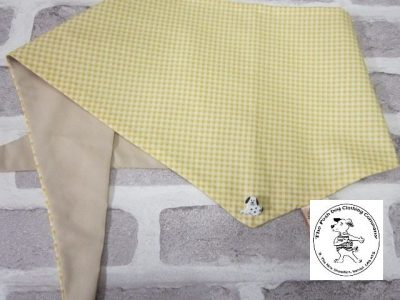 the posh dog clothing company bandanna gingham yellow 9