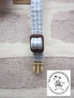 the posh dog clothing company cat collar blue check 6