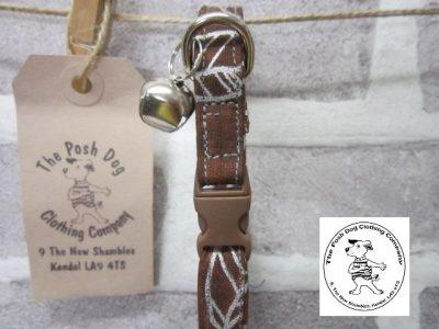 the posh dog clothing company cat collar leaf 03