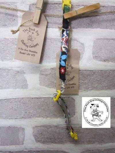 the posh dog clothing company cat collar skull yellow 01