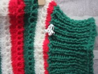 the posh dog clothing company chain link jumper green red 3