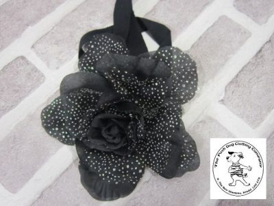 the posh dog clothing company corsage black flower