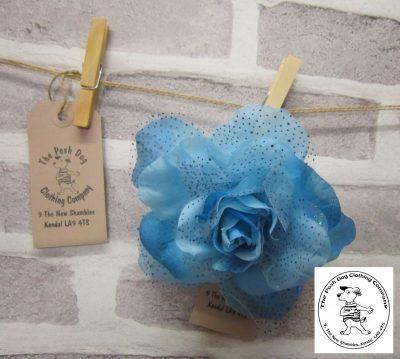 the posh dog clothing company corsage blue