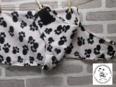 the posh dog clothing company fleece coat paws 02