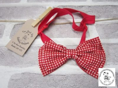 the posh dog clothing company gingham bow tie 1