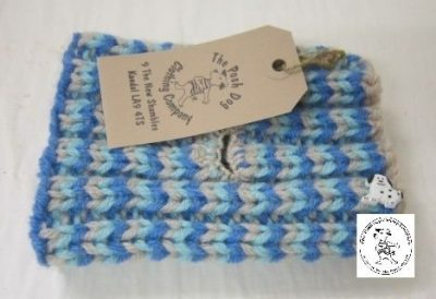 the posh dog clothing company snood 3 colour blue