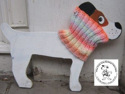 the posh dog clothing company snood bright happy