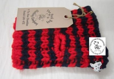 the posh dog clothing company snood navy red