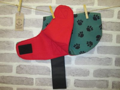 the posh dog clothing company waterproof dog coat green red 2 small 1
