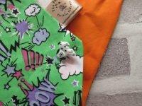 the posh dog clothing company bandannas green hero words 2