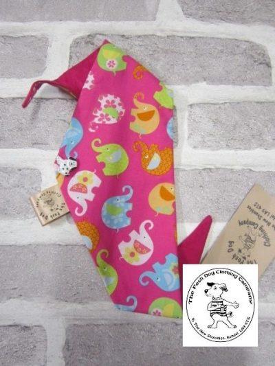 the posh dog clothing company smallbandanna pink elephants 1